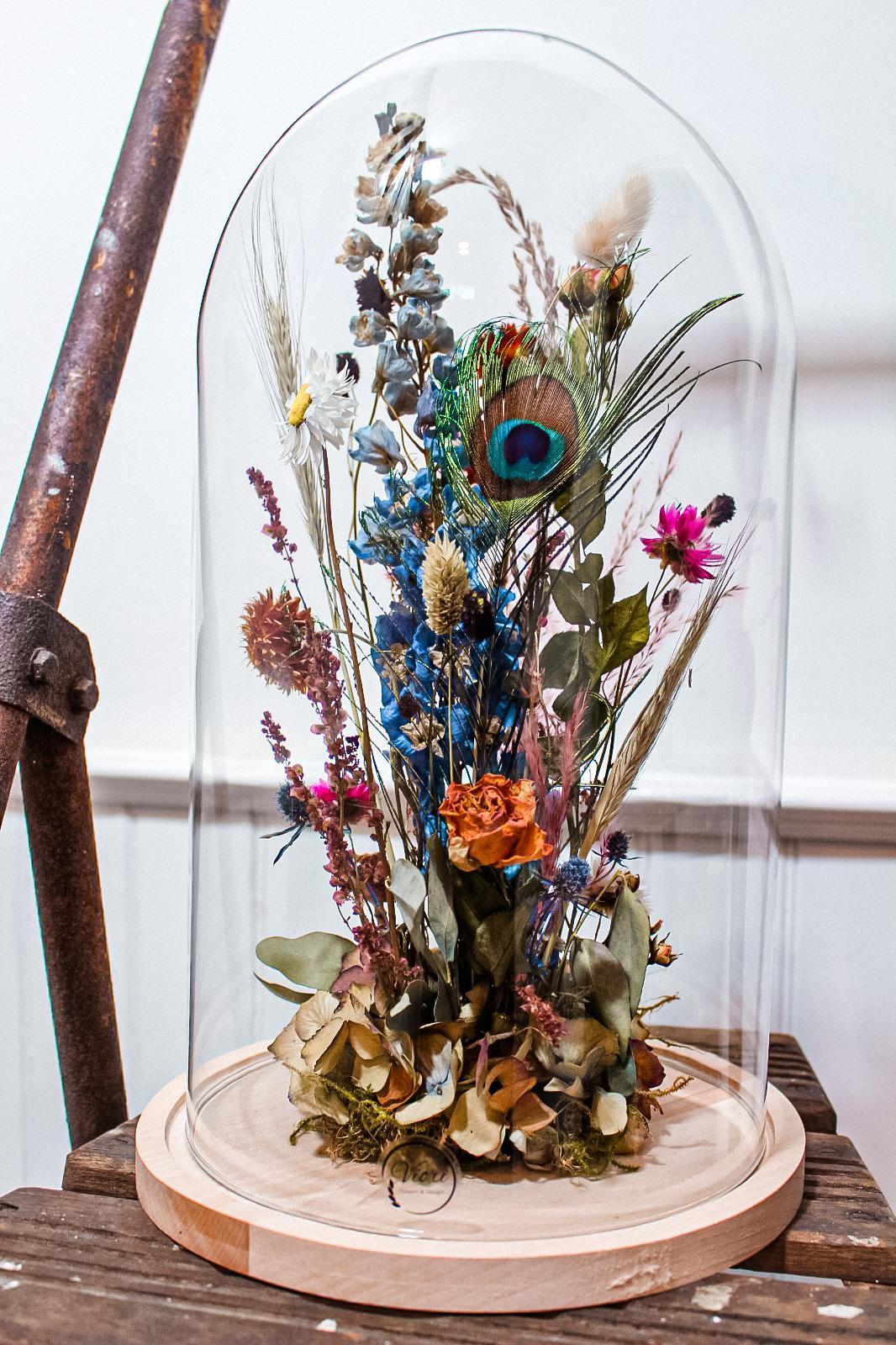 Stolp droogbloemen Colourful